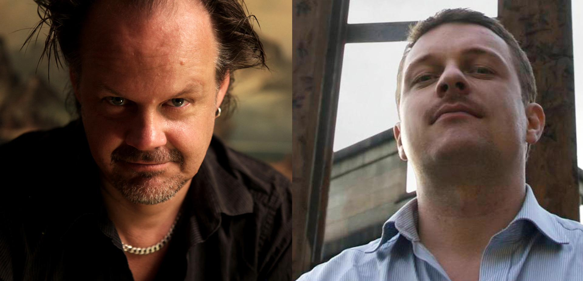 TALES FROM BEYOND THE PALE purveyors Larry Fessenden and Glenn McQuaid.