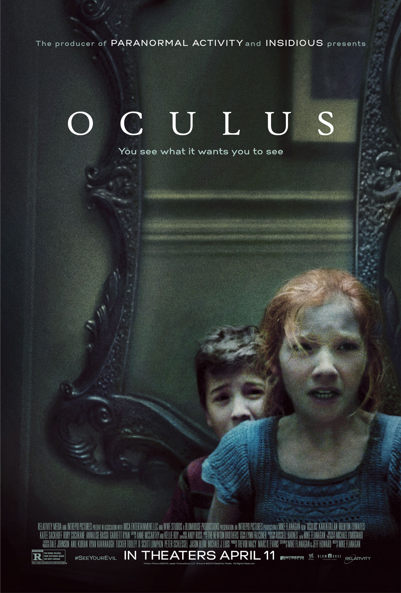 The poster for Mike Flanagan's OCULUS.
