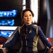 Michelle Yeoh in charge as Captain Philippa Georgiou on Star Trek Discovery. Courtesy: CBS.