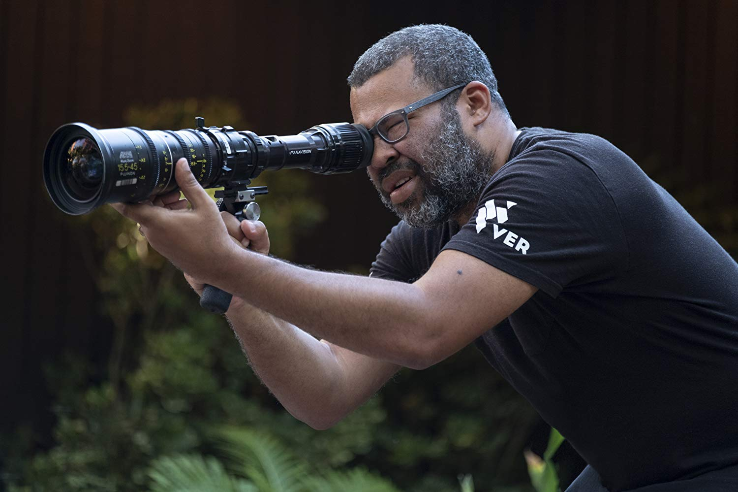Jordan Peele on set during the filming of 'Us.' Peele is being hailed as an 'auteur' and 'genius.'